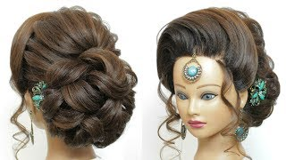 New Latest Bridal Hairstyle For Ladies. Wedding Hairdo. Hair Tutorial