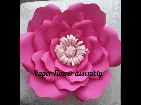 How to make Giant Paper Flowers Part 2 Assembly| Paper Flower Crush