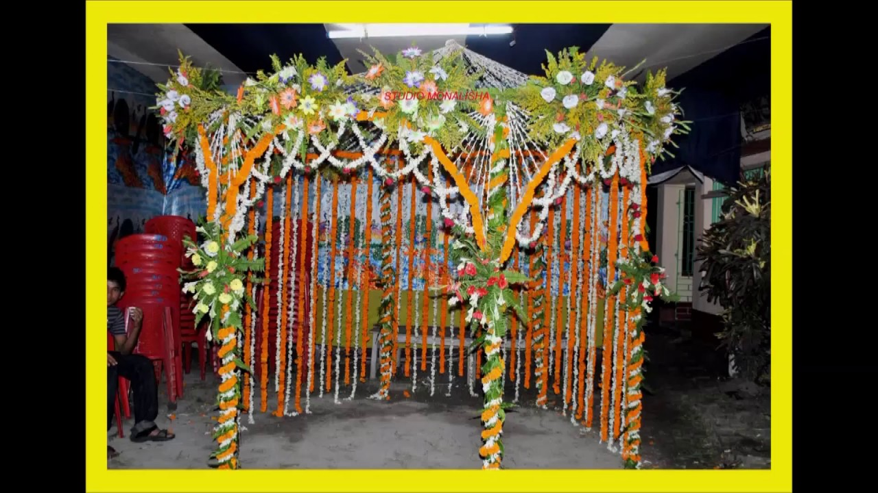 Puja flower decoration 9479034201 8224005428 korba c g for Artificial flower decoration mandap