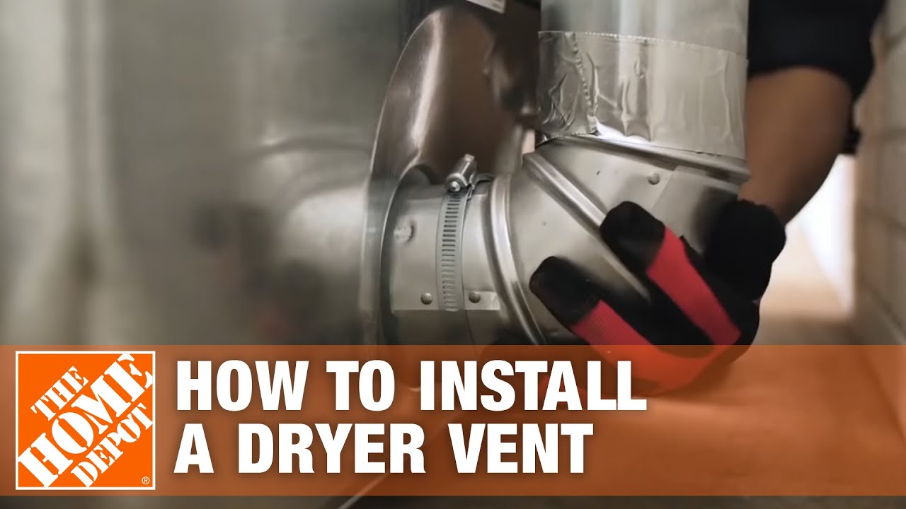 venting a dryer how to properly install a dryer vent [ 1280 x 720 Pixel ]