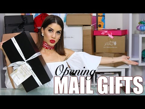 Unboxing presents in the mail!
