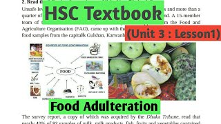 HSC English Textbook Food Adulteration Unit 3 Lesson 1