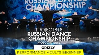 GRIZLY ★ PERFORMANCE BEGINNERS ★ RDC17 ★ Project818 Russian Dance Championship ★ Moscow 2017