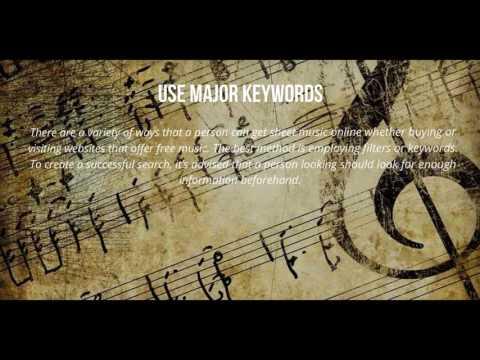 Sheet Music: Guide to getting sheet music online