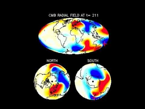 MAG Movie of Geomagnetic Field on Earth Core-Mantle Boundary