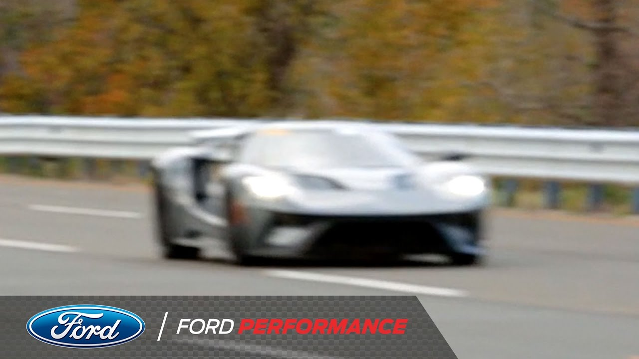 Production Ford Gt Dominates The Track Ford Gt Ford Performance Youtube