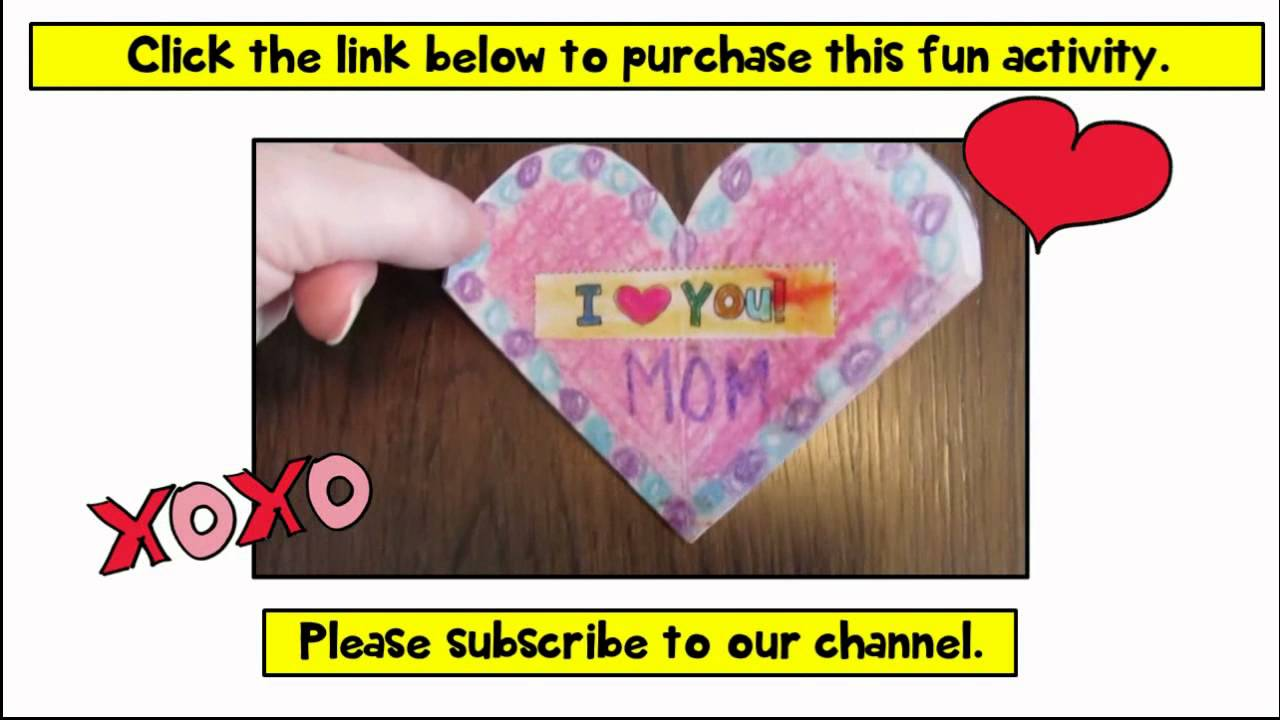 Valentines Day Cards Crafts for Kids DIY Gifts Pop Up Card – Valentines Cards for Teachers
