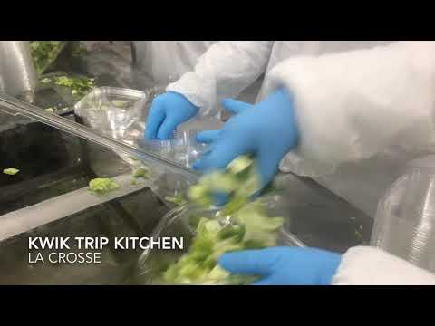 Making salads and burritos in the Kwik Trip kitchen | State and