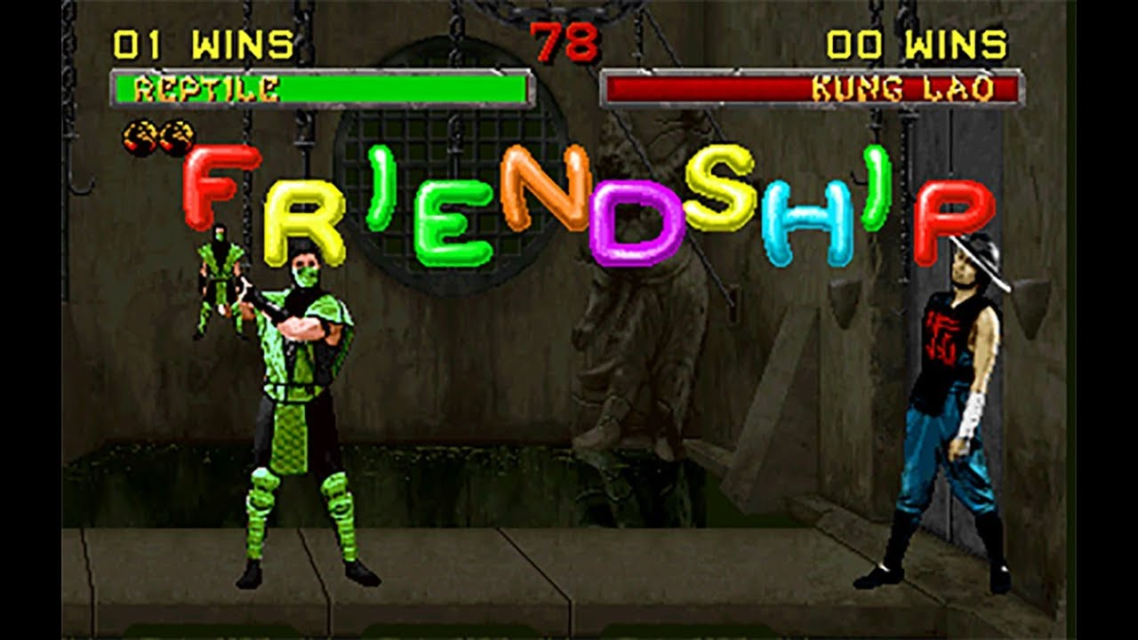 Mortal Kombat II Moves - Reptile - Friendship - YouTube