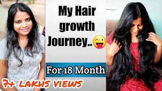 My Hair growth journey for 18 month / English translate👉 / தமிழ் /tamil