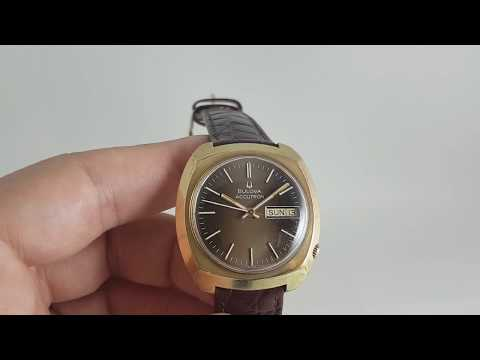 1972 Bulova Accutron Electronic Vintage Men's Watch With Brown Dial