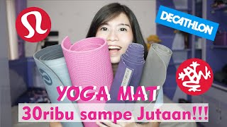 review matras yoga untuk pemula : JADE YOGA , MANDUKA , LULU LEMON , DECATHLON