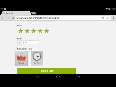 BARTER: Transaction Demo (web)