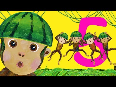 Five Little Monkeys Jumping On The Bed - Children Songs, Nursery Rhymes, Kids Songs