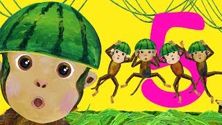 Five Little Monkeys Jumping On The Bed - Children Songs, Nursery Rhymes, Kid Songs
