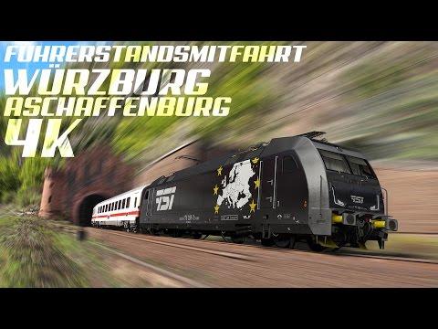 GoPro, Führerstandsmitfahrt Würzburg - Aschaffenburg, Spessart, 4K