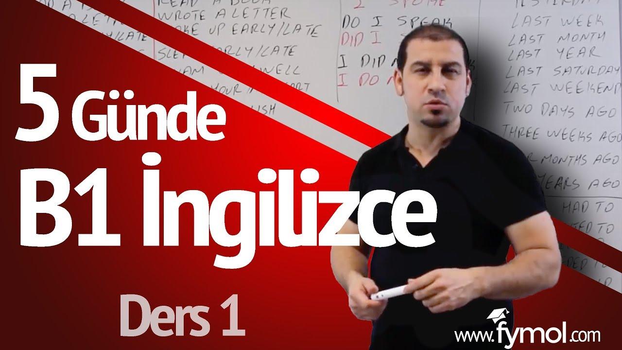 5 Günde B1 İngilizce öğreniyorum Ders 1 - En İyi Online İngilizce Kursu
