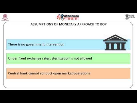 Moneytory Approch to blance of Payment (ECO)