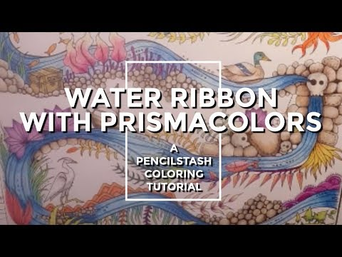 Adult Coloring Book Tutorial: How to blend with colored pencils and a blender pencil
