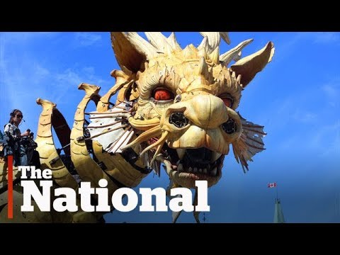 Giant mechanical monsters roam the streets of Ottawa