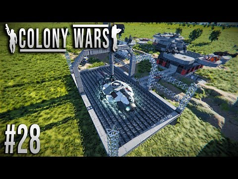 Space Engineers - Colony WARS! - Ep #28 - Constructing the Shipyard!