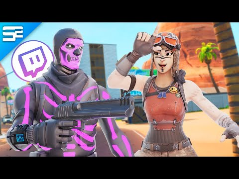 Killing Twitch Streamers With RENEGADE RAIDER #2 - Fortnite Battle Royale