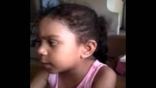 A baby praying in swahili language