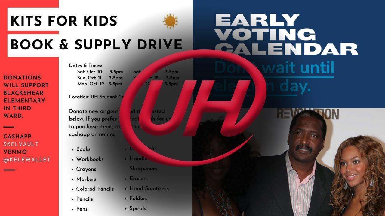Early Voting, Mathew Knowles Teaching at UH, Kits for Kids & MORE