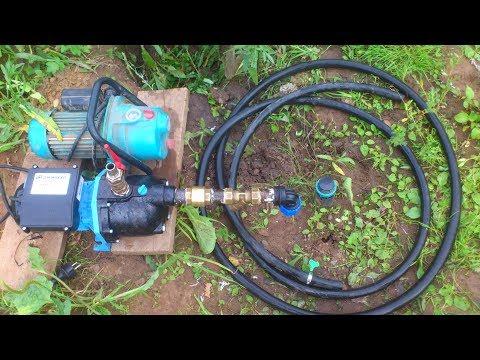 Моя первая скважина! (часть 2).Подключаю насос Джамбо 60/35 подъем воды с 9 метров!