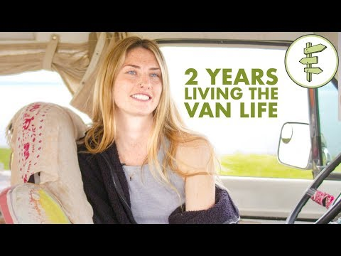 Van Life - Young Woman Living in a Van as Full-Time Tiny Home