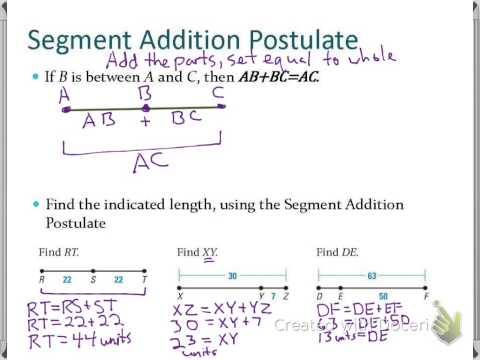 Sec 1 2: Use Segments and Congruence - YouTube