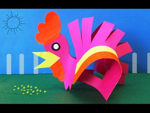 Diy preschool kids activities how to make a paper hen i for Chart paper craft work