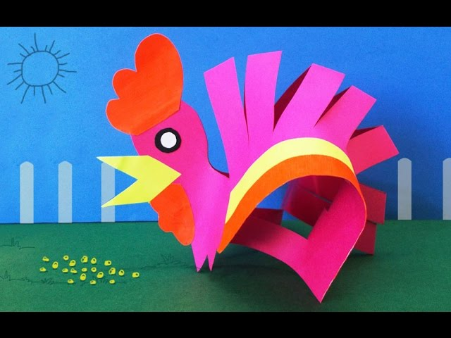 Diy Preschool Kids Activities How To Make A Paper Hen 4 Steps
