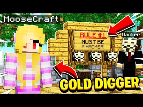 I Went UNDERCOVER As a GOLD DIGGER On a HACKER Minecraft Server and SAW THIS!
