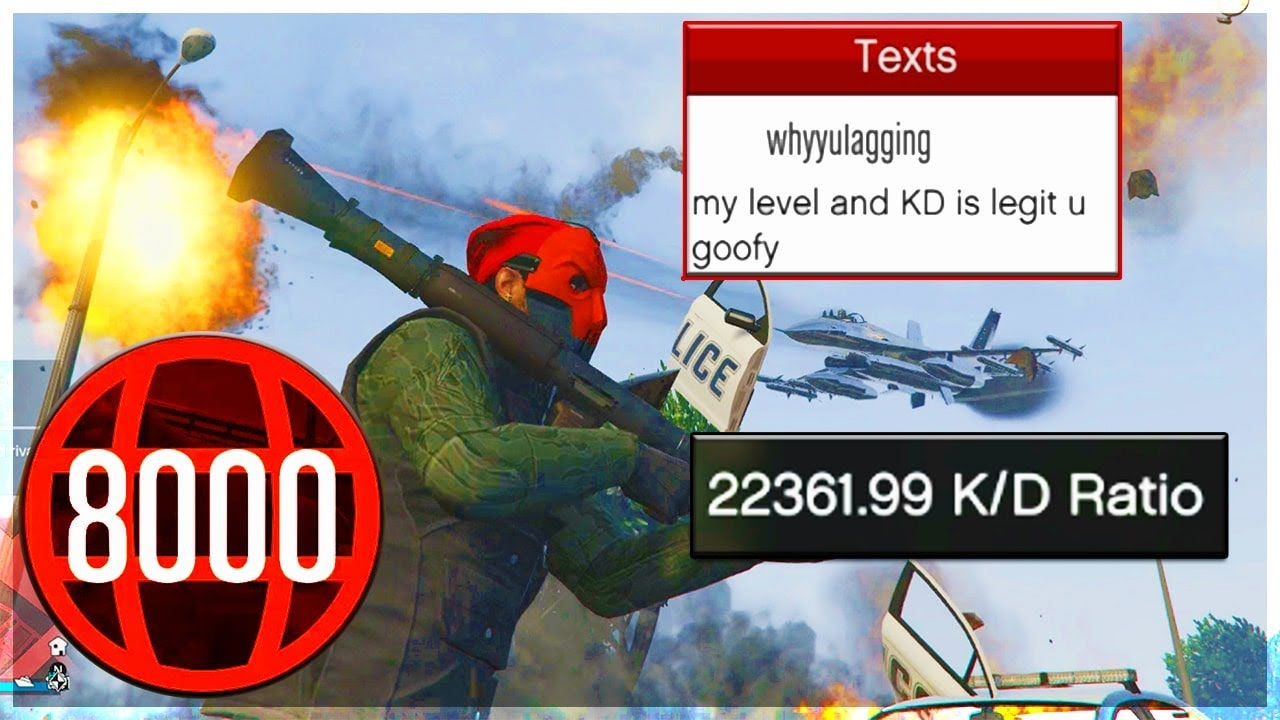 LEVEL 8000 GRIEFER WITH A 22,361 KD GETS HUMILIATED ON GTA 5 ONLINE (RAGEQUITS)