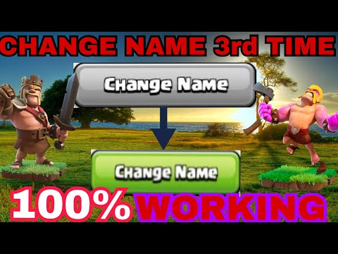 HOW TO CHANGE NAME 3rd TIME IN CLASH OF CLANS || 100% WORKING ||