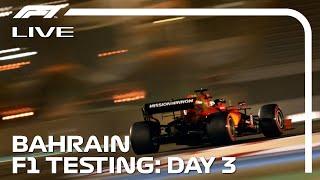 LIVE F1 Pre-Season Testing | Day Three Morning