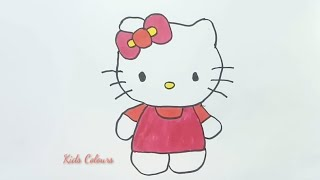 Cute little kitten full of colours for kids,  nursery rhyme music for ...