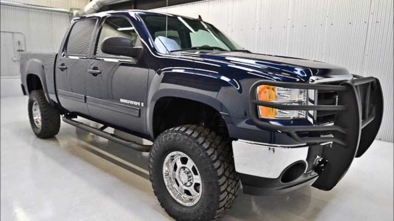 2007 Gmc Sierra 1500 Crew Cab Sle 2wd Lifted Truck For