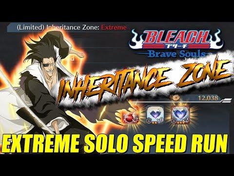 Bleach Brave Souls Inheritance Zone EXTREME SOLO SPEED RUN