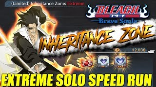 Bleach Brave Souls Inheritance Zone EXTREME SOLO SPEED RUN