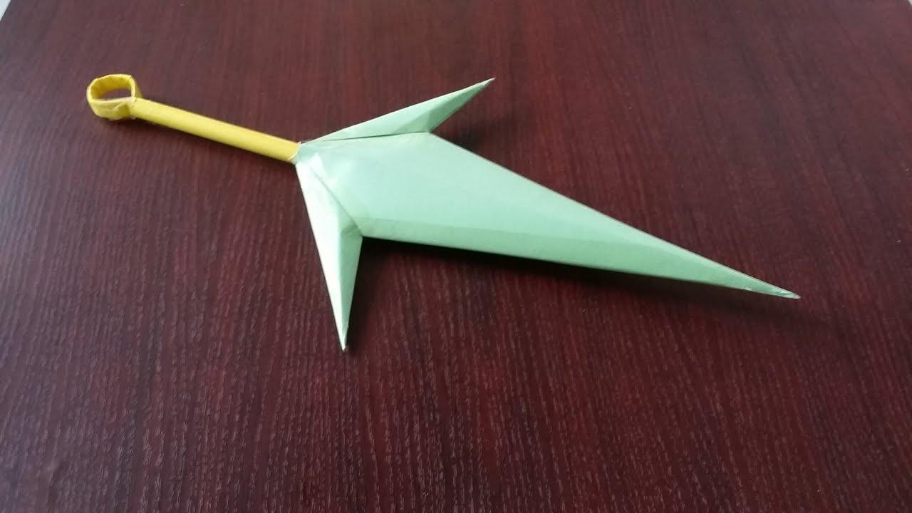 Comment faire un couteau kunai utilisant du papier - Comment faire une etoile en papier facile ...