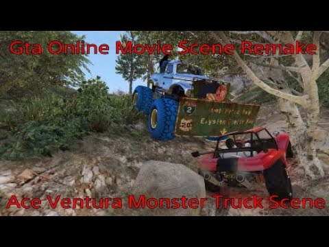 Gta Online: Ace Ventura Monster Truck Scene Remake