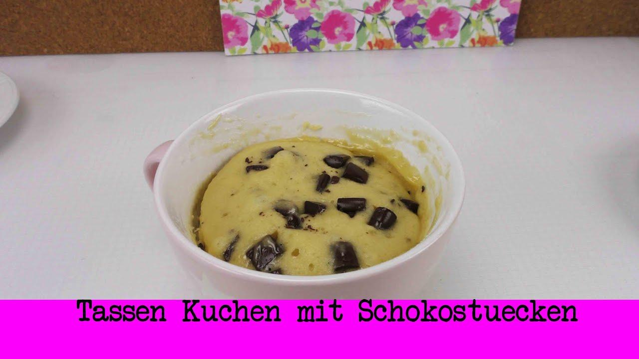 Tassenkuchen Mit Schokostucken Mikrowellen Kuchen Schnell
