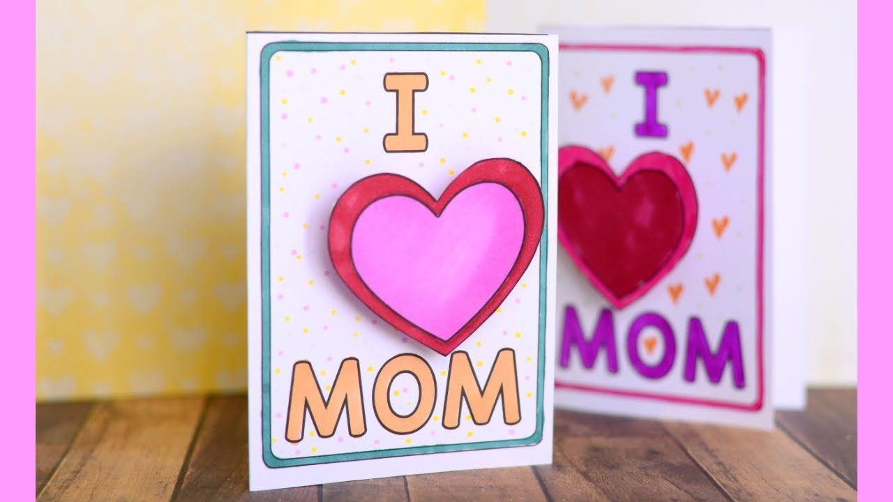 Mothers Day Crafts   Easy Mothers Day Card