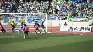 2011 J2 第1節 ファジアーノ岡山 後藤選手ヘディングシュート thumbnail
