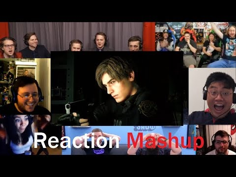 RESIDENT EVIL 2 REMAKE Reveal Trailer PS4 (E3 2018) REACTION MASHUP