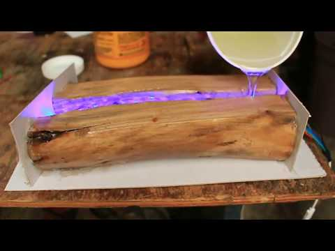 How to Make an Epoxy Resin Wooden Lamp for Decoration