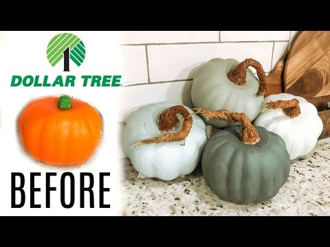 DOLLAR TREE FALL DIY 2019 // DOLLAR TREE PUMPKIN MAKEOVER