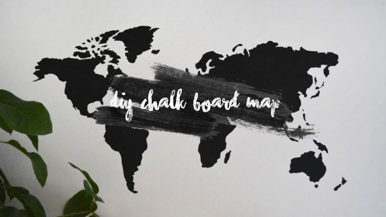 Diy world chalk board map youtube diy world chalk board map gumiabroncs Choice Image